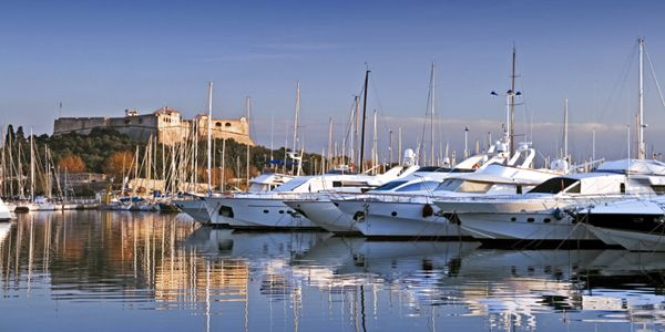 Antibes fort marina