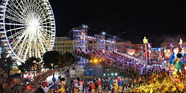 Nice carnaval nacht