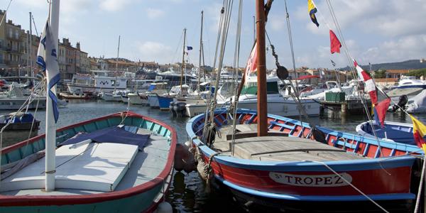 St. Tropez boten in haven