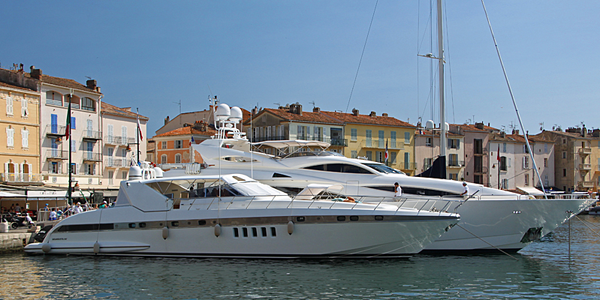 Saint-Tropez jachten in haven