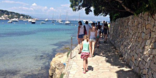 Start wandeling Antibes