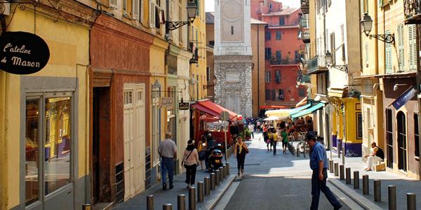 Winkelstraat in Monaco