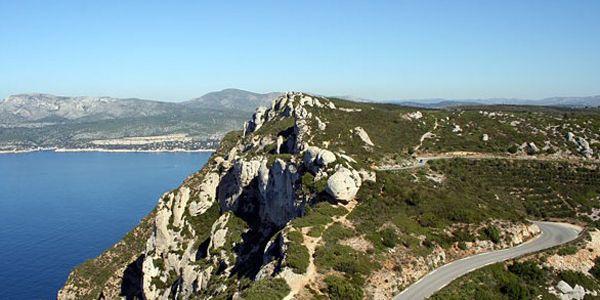 Uitzicht route des cretes